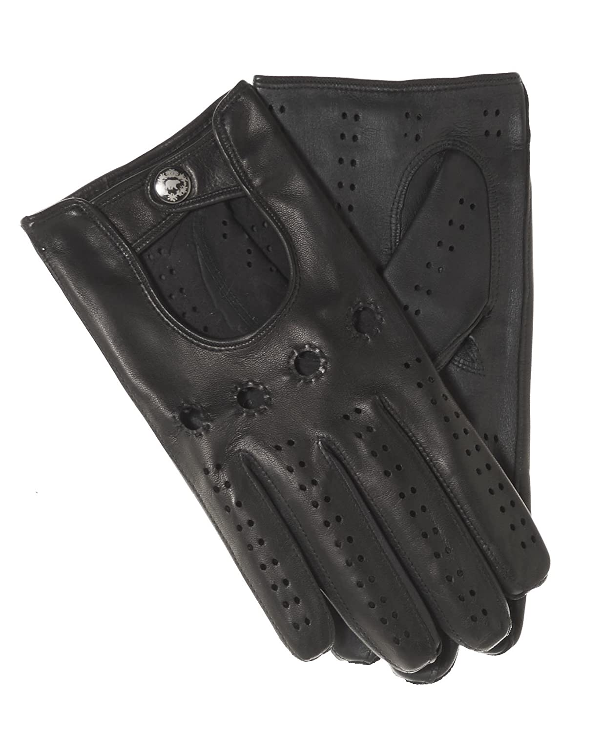 Leather driving gloves mercedes - Fratelli Orsini Men S Italian Touchscreen Leather Driving Gloves Size 7 Color Black At Amazon Men S Clothing Store