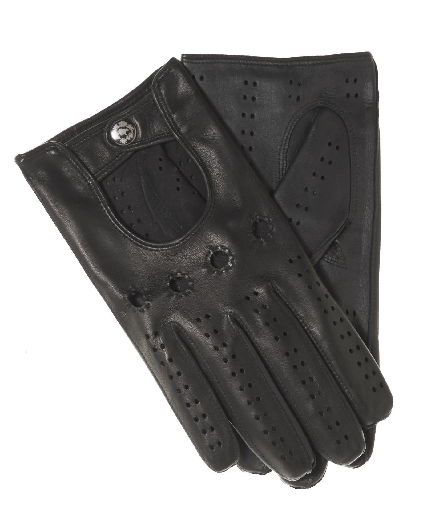 Fratelli Orsini Men's Italian Touchscreen Leather Driving Gloves Size 11 Color Black
