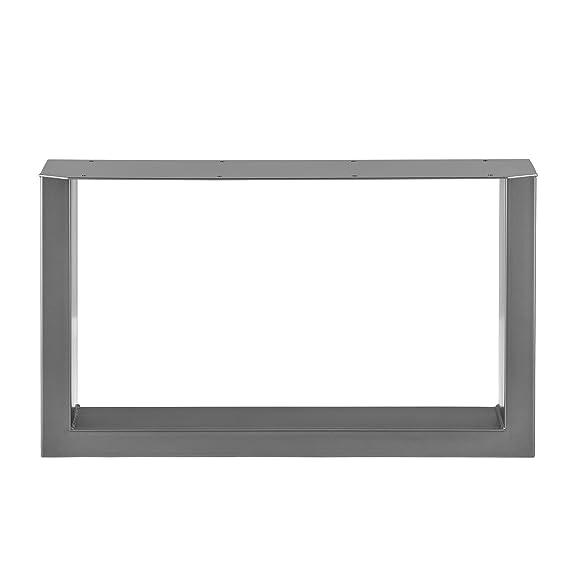 [en.casa]®] 2 x Conjunto de Patas de Mesa - Set de 2X Patas de Mesa - Metal - Patas de los Muebles - 64 x 40 cm - para Mesa de Centro - Armazón de ...
