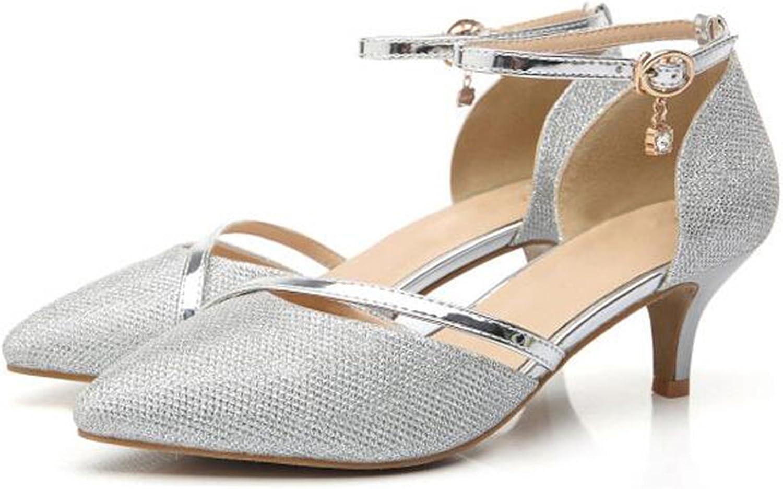 WUIWUIYU Femme Bout Ferm/é Escarpins Chaussures de C/ér/émonie Mariage