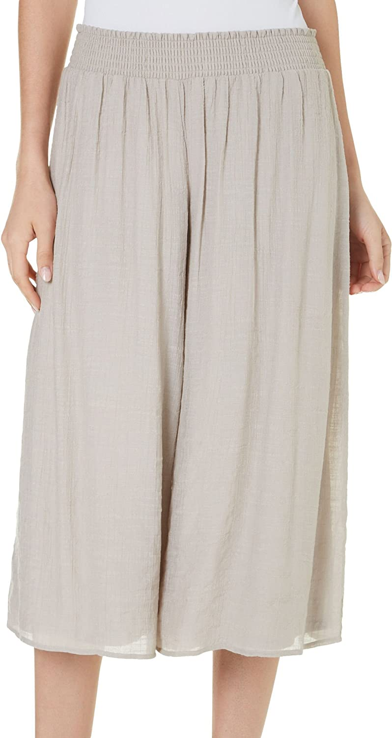 AGB SAnd Women's Small Gauzy Capris Cropped Pants