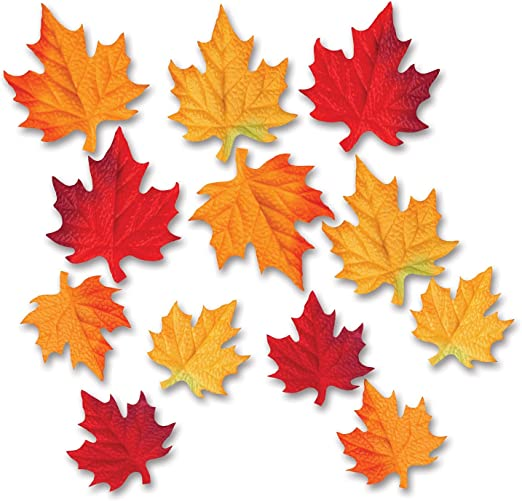 Scrapbooking Cards Pk of 15  NEW Leaf 3 Colours 15 BRADS AUTUMN LEAVES