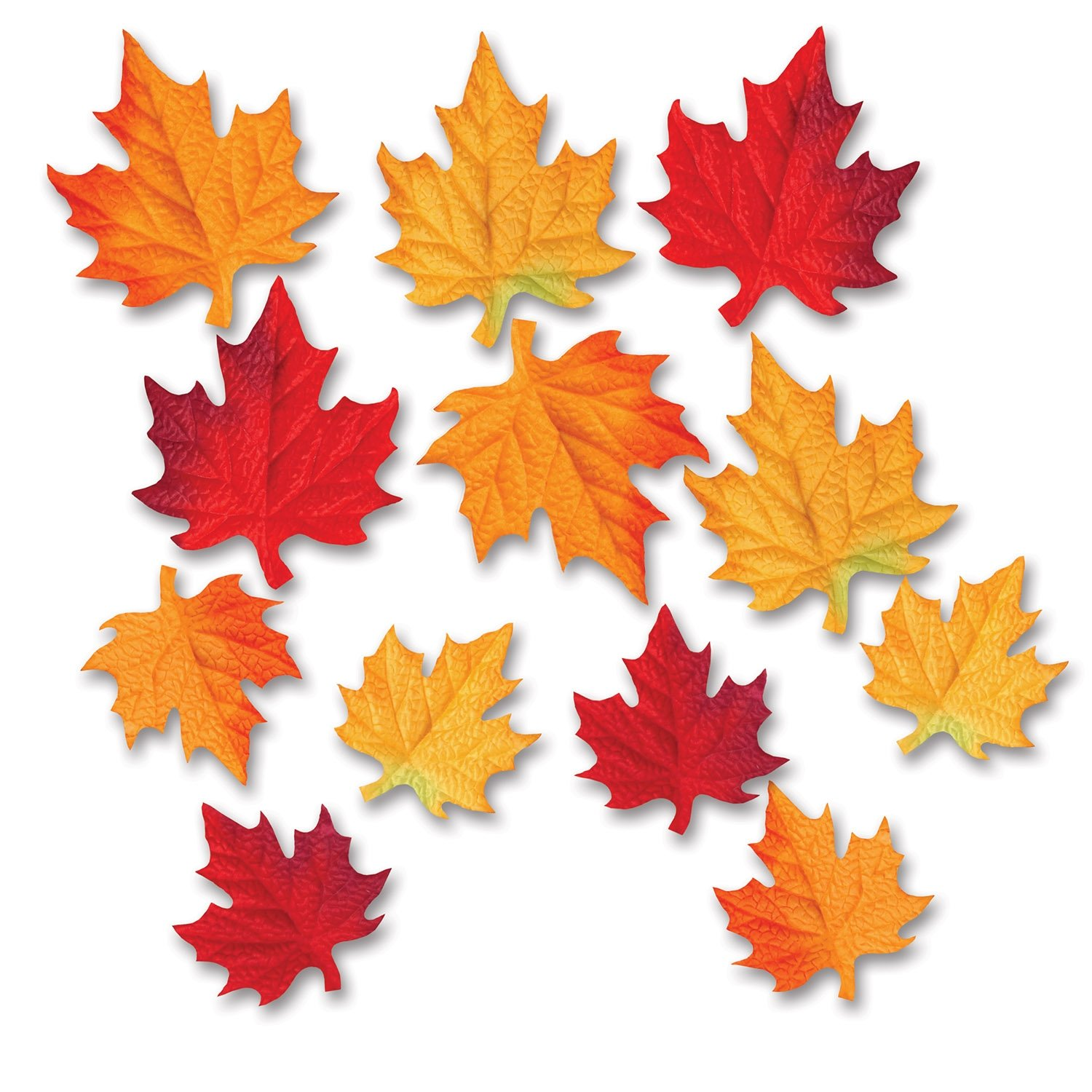 Beistle 12-Pack Deluxe Fabric Autumn Leaves Decorative Cutouts, 3-1/2 by 4-3/4-Inch The Beistle Company 90847