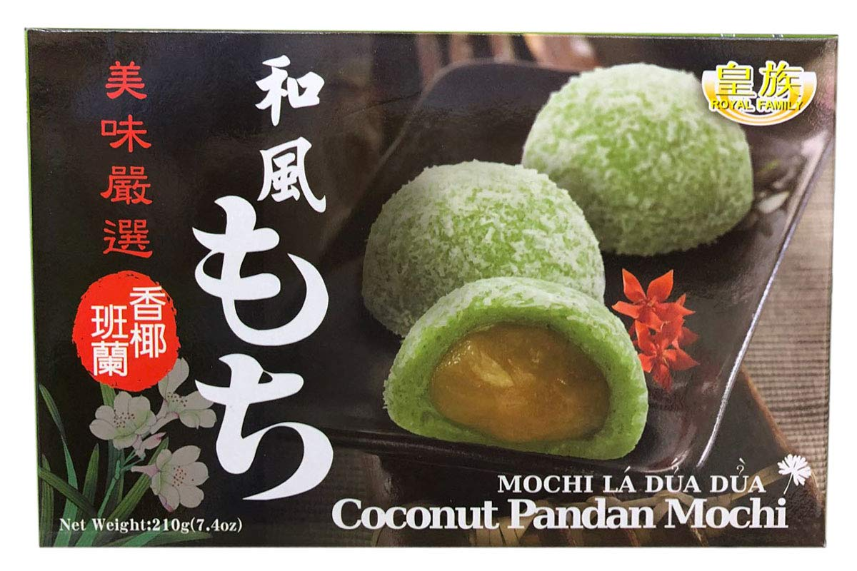 Coconut Pandan Mochi (Pack of 12)