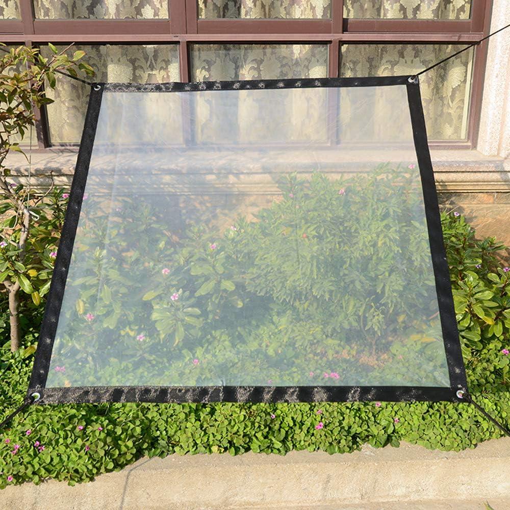 Clear Waterproof Cover Tarp,6.5x6.5ft Heavy Duty Dustproof Rainproof Tarpaulin Sheet Ground Sheet Covers Anti-Aging Insulation PE for Garden Furniture Cars