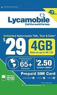 Amazon.com: Planes de prepago de Lycamobile tarjeta SIM ...