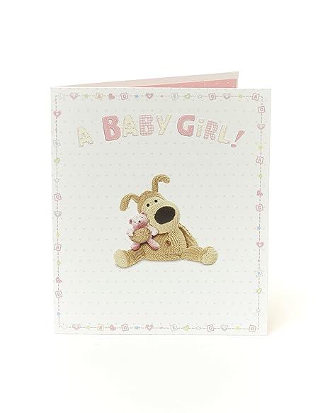 Boofle Felicitaciones Nueva Tarjeta de bebé niña: Amazon.es ...
