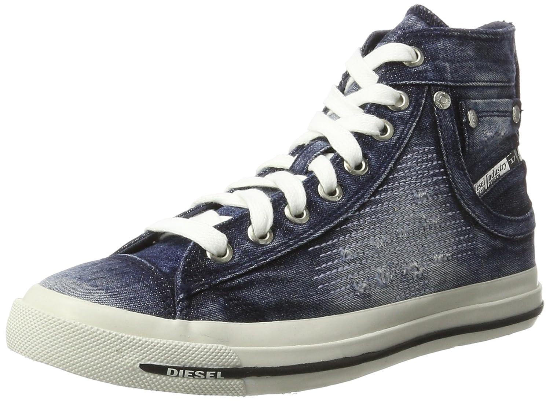 Diesel Magnete Exposure IV Mid, Zapatillas Altas para Mujer 36 EU|Azul (Indigo T6067)