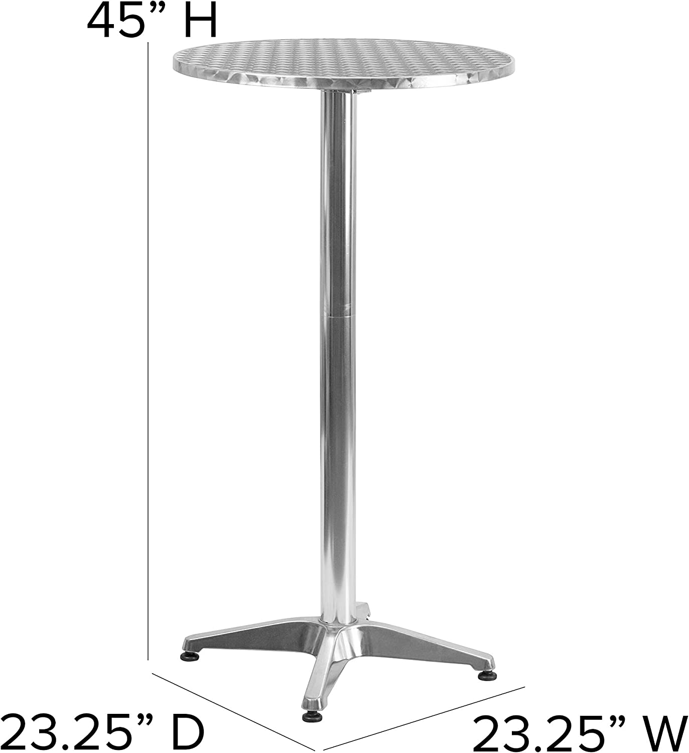 Flash Furniture Tlh 059a Gg Round Aluminum Indoor Outdoor Folding Bar Height Table With Base 25 5 Feet Amazon Ca Home Kitchen