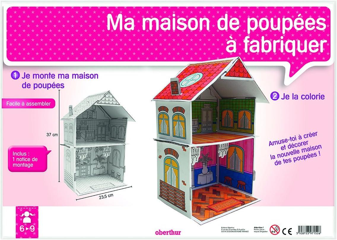 Oberthur 1 Maison De Poupee En Carton A Monter Soi Meme Et