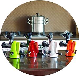 High Nutrient Hand Press Slow Juicer Manual Babycook Fruit Vegetable Extractor Manual Juicer Mute Working Hand Fruit Juicer,White