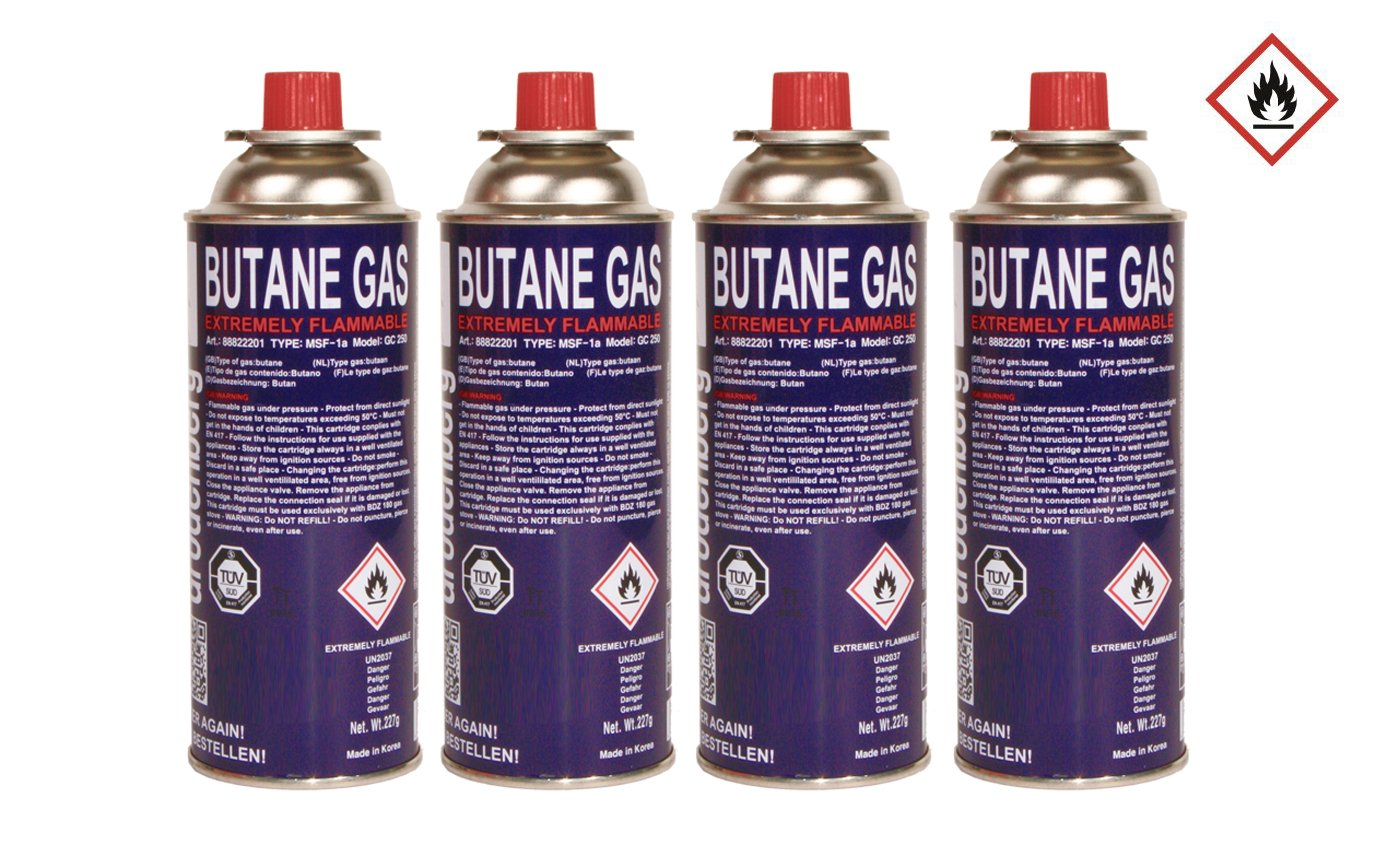 28 x Cartucho de gas 227 g Butano Cartuchos de Gas MFS 1 A para hornillo de gas, Gas Calefacción, Gas, grabadora Mechero Bunsen: Amazon.es: Jardín