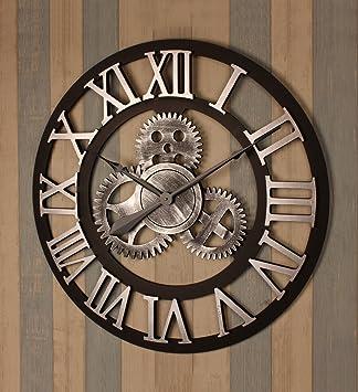 ZHENAI Retro Engranaje Reloj De Pared Viento Industrial Murales De Fondo Talla Grande, Diámetro 70cm, Estilo 6 Decoración (Color : C-1#) : Amazon.es: Hogar