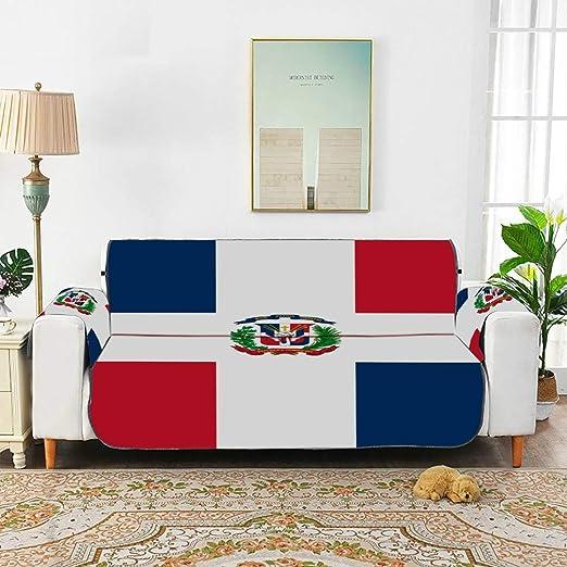 WDDHOME Bandera de República Dominicana Sofá Cubierta Exterior ...