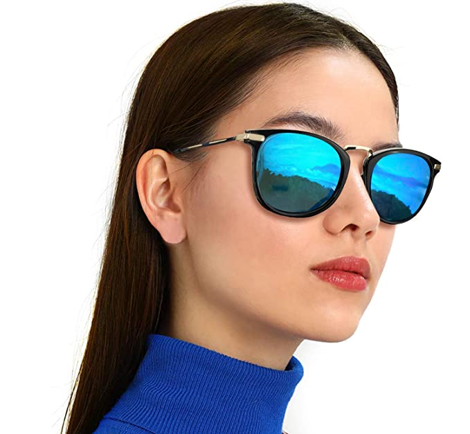 b591ca68b2f Amazon.com  TJUTR Vintage Round Sunglasses for Women