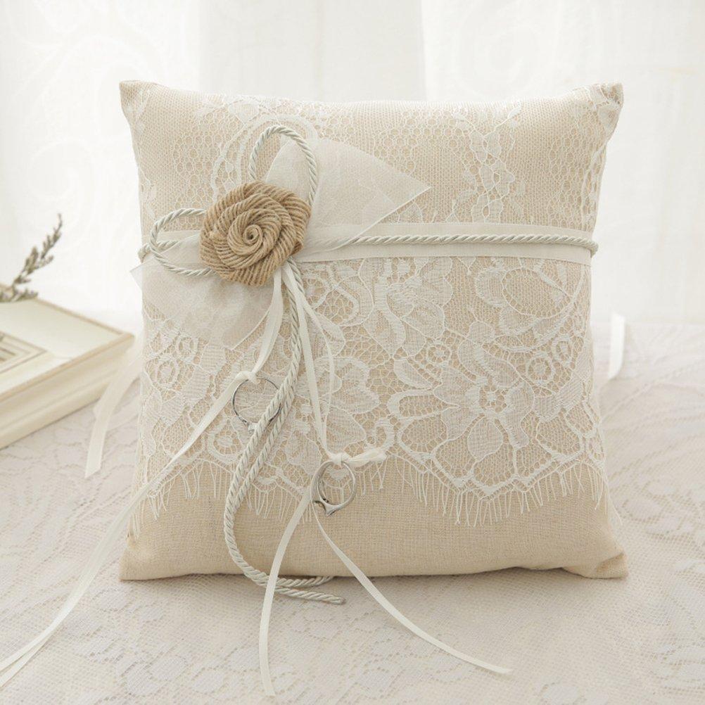 Amazon.com: Vivivalue, almohadón para anillo de boda ...
