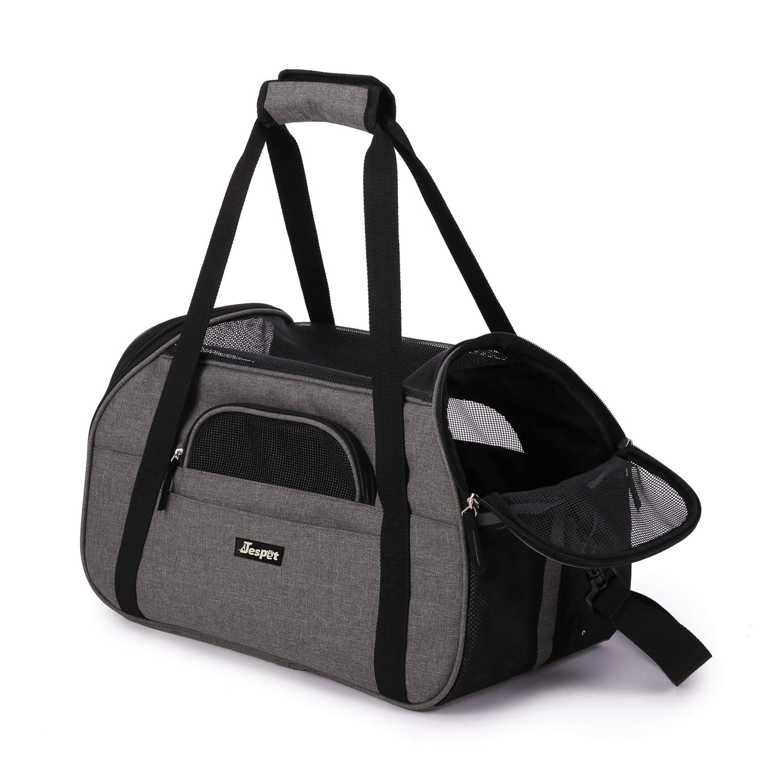 3069f50897 Amazon.com : JESPET Soft Pet Carrier for Small Dogs, Cats, Puppy, 17