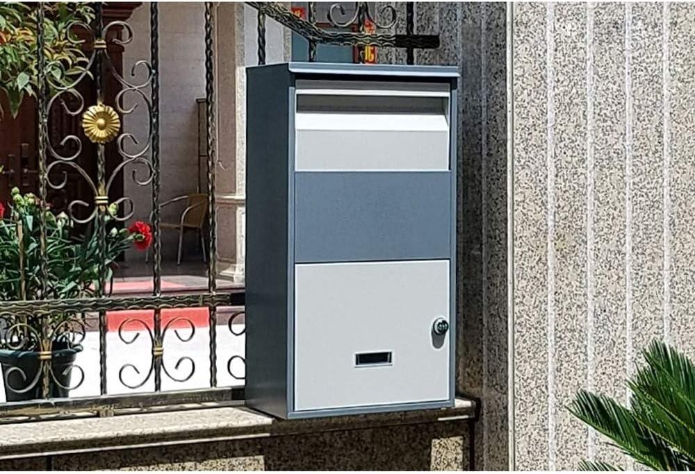 HYRL Caja de parcela Bandeja de Entrada de Personal Express para el hogar Extra Grande para entregas seguras Buzón de parcelas de Gran tamaño para Exteriores,Orange: Amazon.es: Hogar
