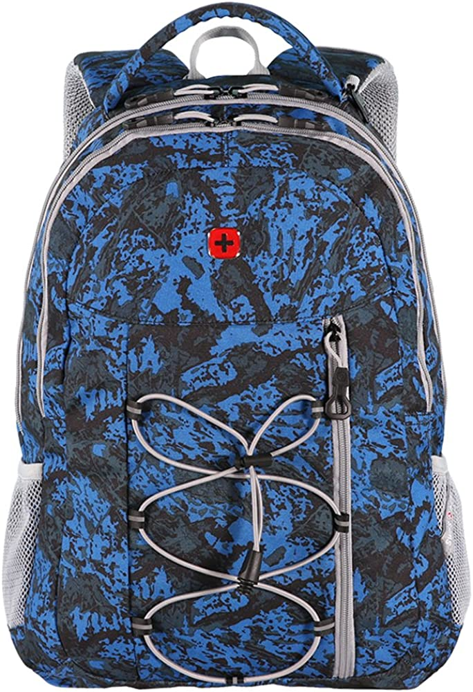 Swiss Gear 18 Multipurpose Backpack One Size, Blue Silver Grey