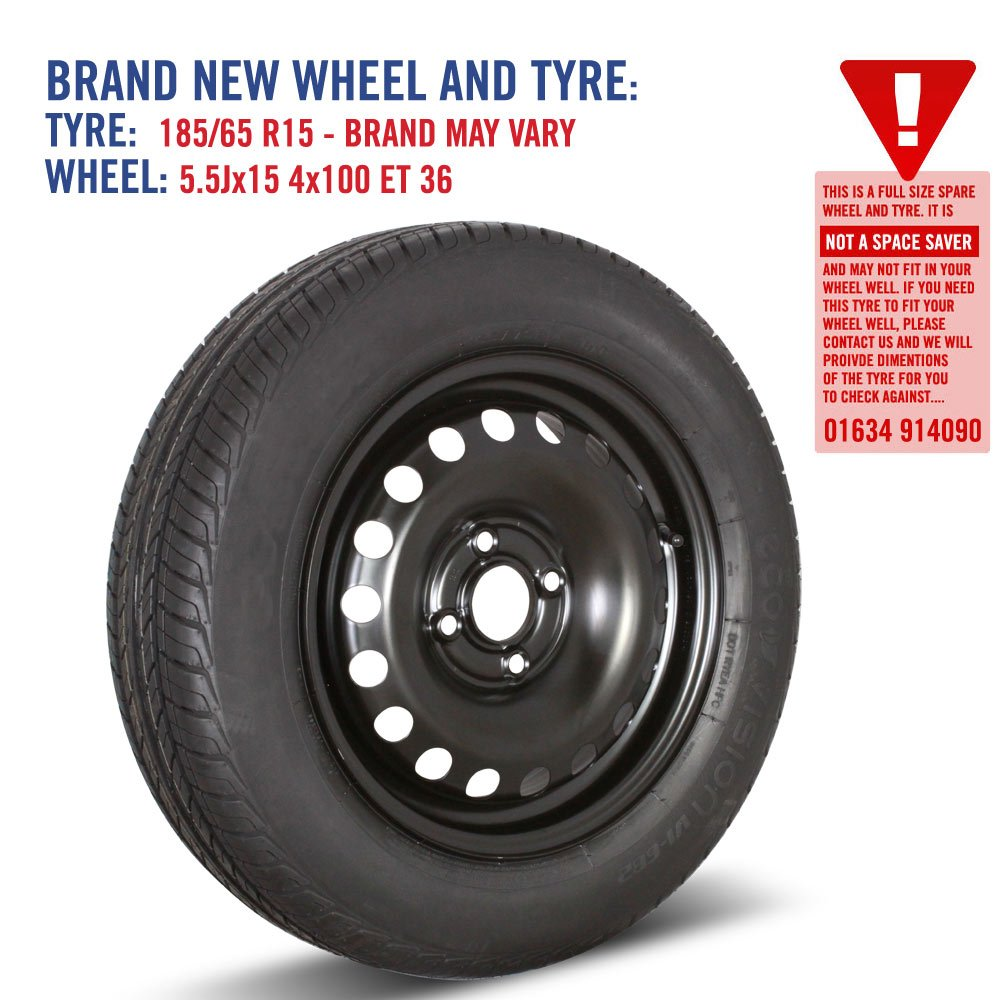 2011-2016 15 Spare Wheel and Tyre for Kia Rio