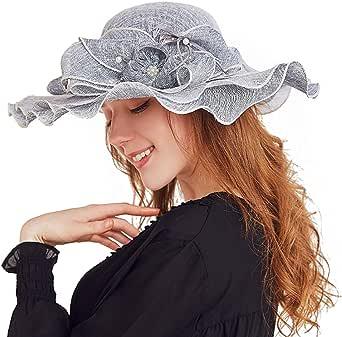 OZ SMART Fashion Sun Hat Gift Box Set, UV Protection, Premium Women's Horse Races Kentucky Derby Organza Church Wedding Dress Party Occasion Hat