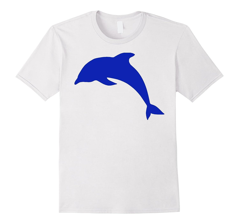 blue Dolphin Silhouette Tee Shirt-TD