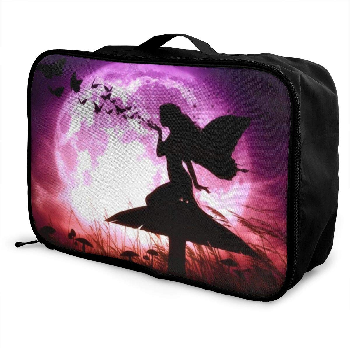 Girl and Butterfly Travel Duffel Bag Waterproof Fashion Unisex Lightweight Large Capacity Portable Luggage Bag for Women Men