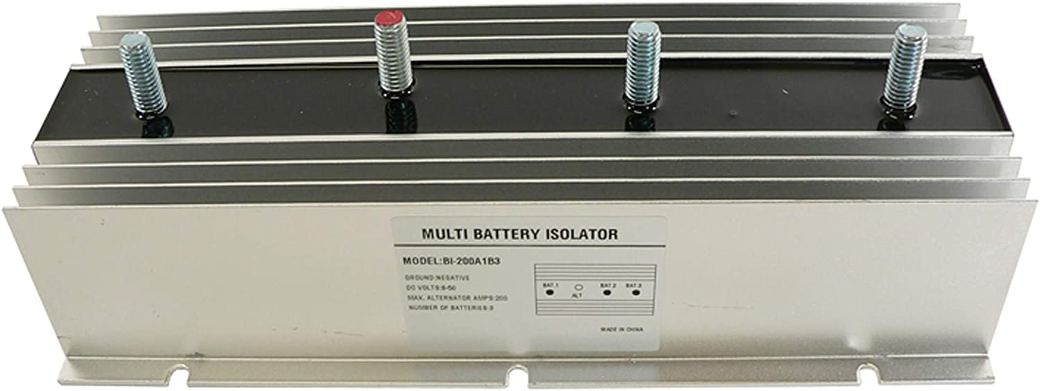 DB Electrical BSL0006 200 Amp Three 3 Multi Battery Isolator for Marine RV EMS used in many stereo systems
