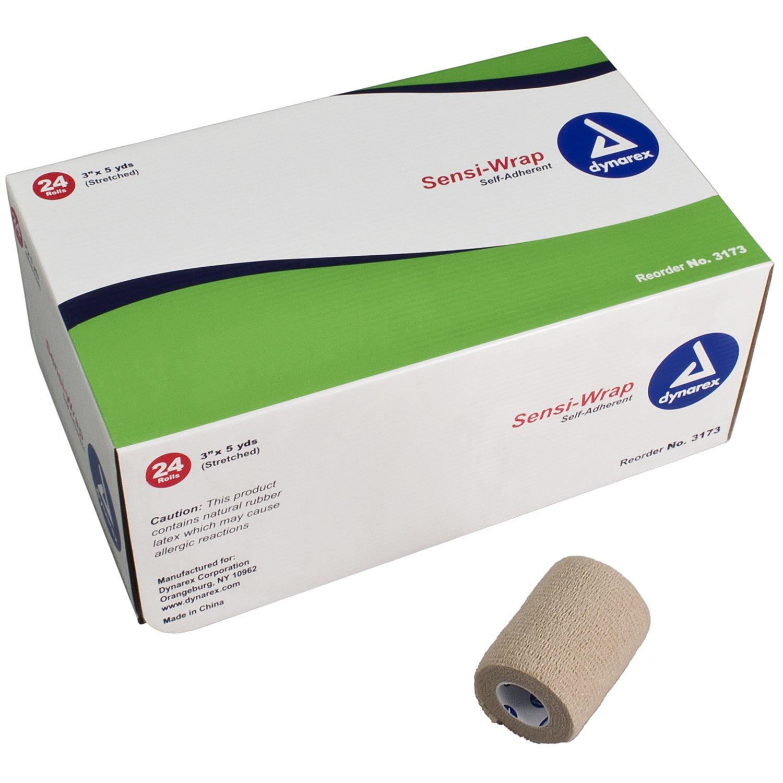 Dynarex Sensi Wrap, Self-Adherent 3'' x 5 yds Tan 24/Cs