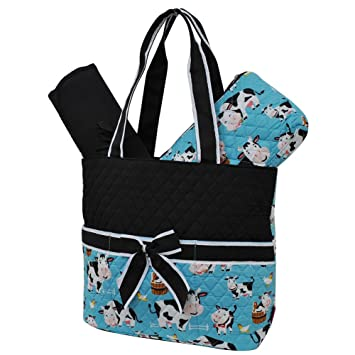 0e1cfa445fe3 Amazon.com   Cow in Town NGIL Quilted 3pc Diaper Bag   Baby
