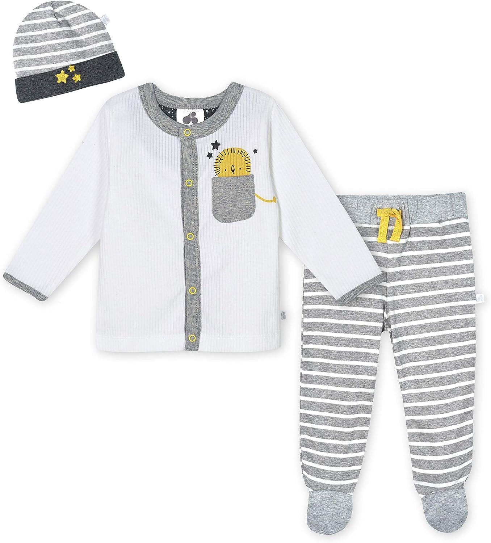 JUST BORN Baby Boys' 3-Piece Organic Take Me Home Set