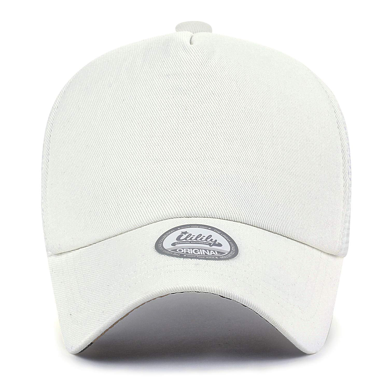 ililily Extra Large Big Size Mesh Back Curved Baseball cap Trucker Hat XL