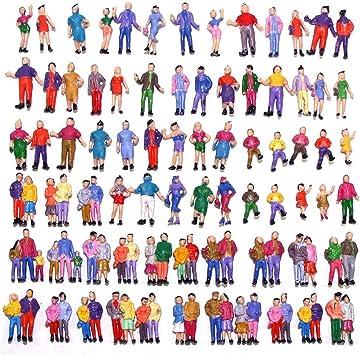 Evemodel 100x Modele Figurines De Personnages En Couleur 18mm Echelle 1 87 Ho Amazon Fr Jeux Et Jouets