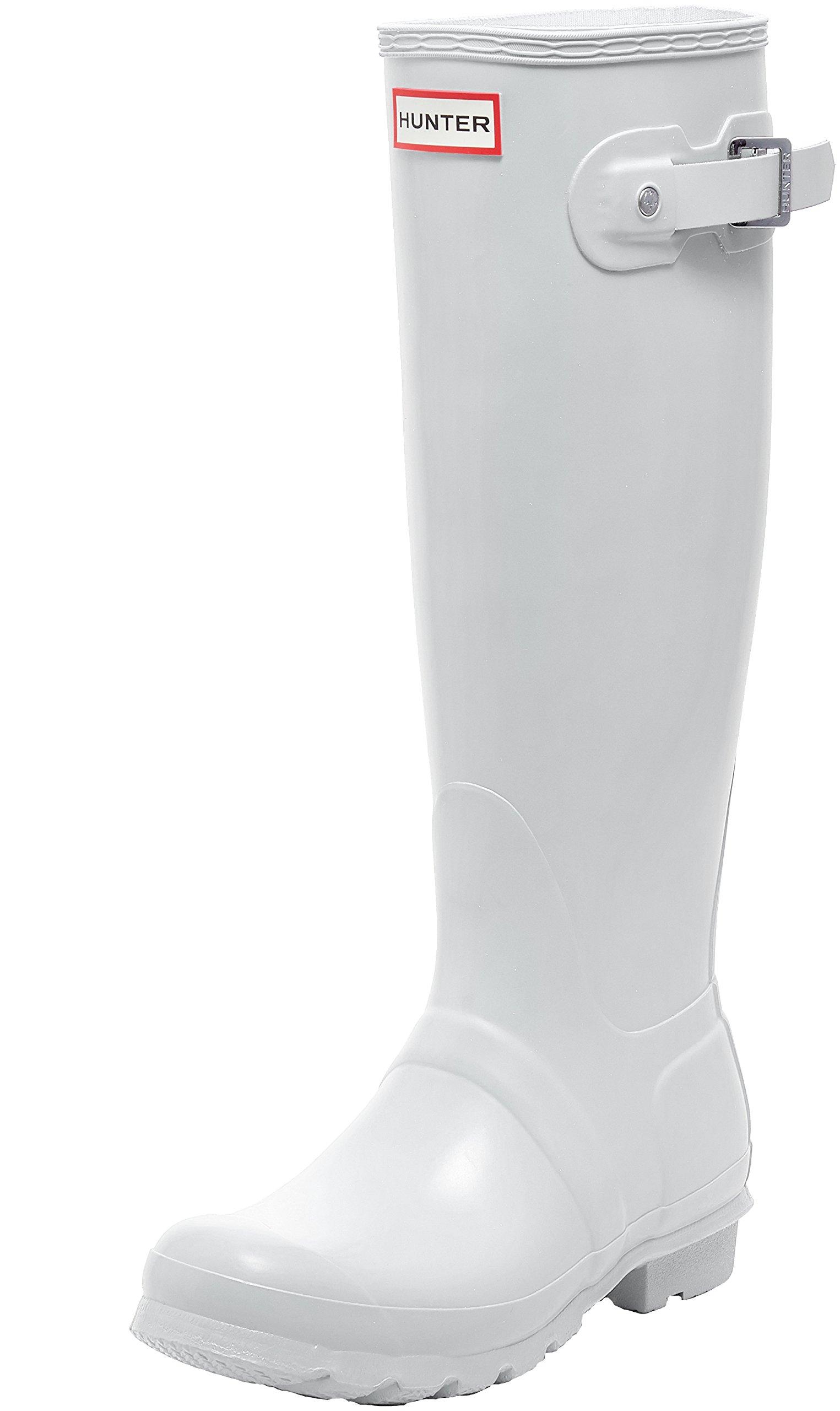 Hunter Women's Original Tall White Rain Boots - 7 B(M) US