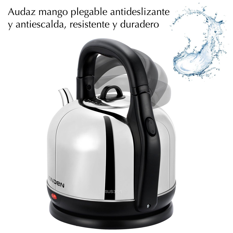 JKsmart Hervidor de Agua eléctrico con Capacidad de Lager de 4.2L, Acero Inoxidable Saludable SUS304 y protección hermética de Apagado automático, Plateado, ...