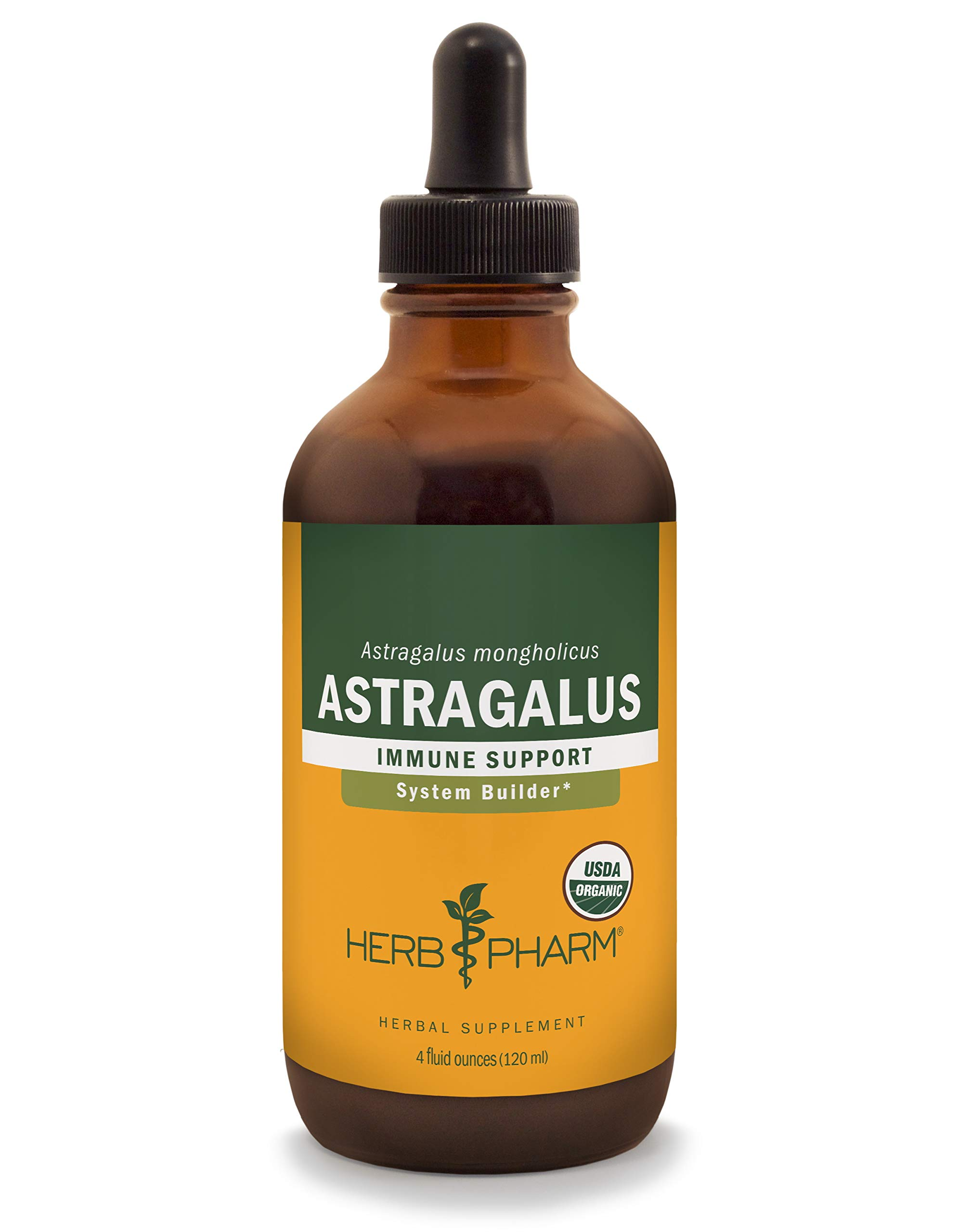 Herb Pharm Certified Organic Astragalus Liquid Extract for Immune System Support - 4 Fluid Ounce