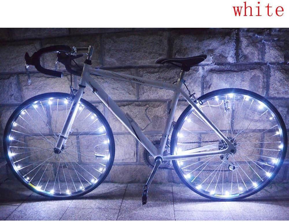 LED IP55 Waterproof Bicycle Spoke Light 20 LED Bicycle Rim Tire Lights for Mountain Bike//Road Bikes//BMX Bike//Hybrid Bike//Folding Bike Good Gift Pink Glumes Bike Wheel String Lights