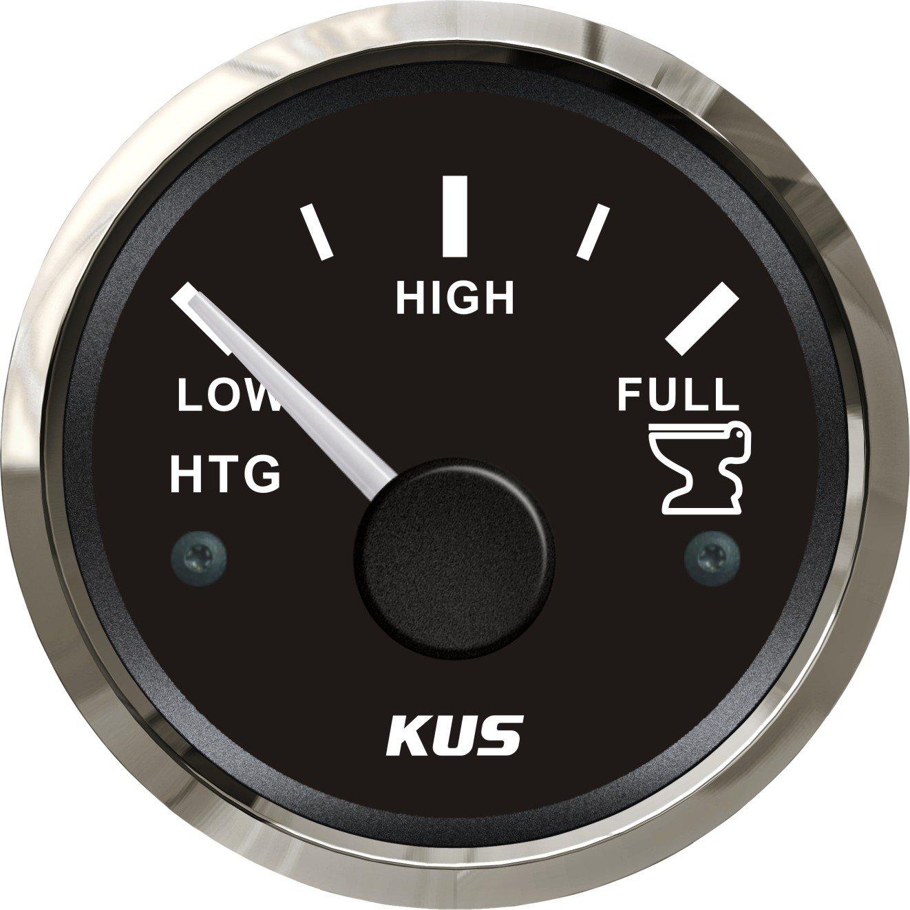 Depó sito de Kus Medidor de nivel Indicador 0 –  190ohm 12 V/24 V 52 mm (2 ') con retroiluminació n