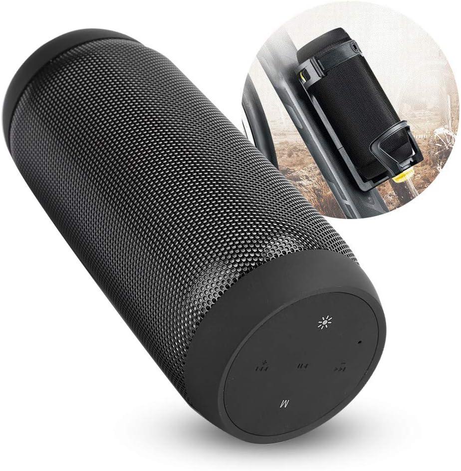 Altavoz Bluetooth 5.0, 2000mAh 5W * 2 Altavoz inalámbrico portátil Forma de Cubo Altavoz BT Altavoz de Sonido estéreo con luz LED, Soporte Conexión inalámbrica NFC(Negro)