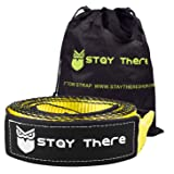 Stay There 3'' x 30ft Tow Recovery Strap, Lab Tested 30000lb Break Strength with Reinforced Loops Built for Off-Roading…