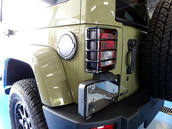 Diytuning Euro Tail Lamp Light Cover Trim Guards Protector For Jeep Wrangler Jk Jku Unlimited Rubicon Sahara Sport Exterior Accessories Parts 2007 2008 2009 2010 2011 2012 2013 2014 2015 2016 2017 Eventerservice Com