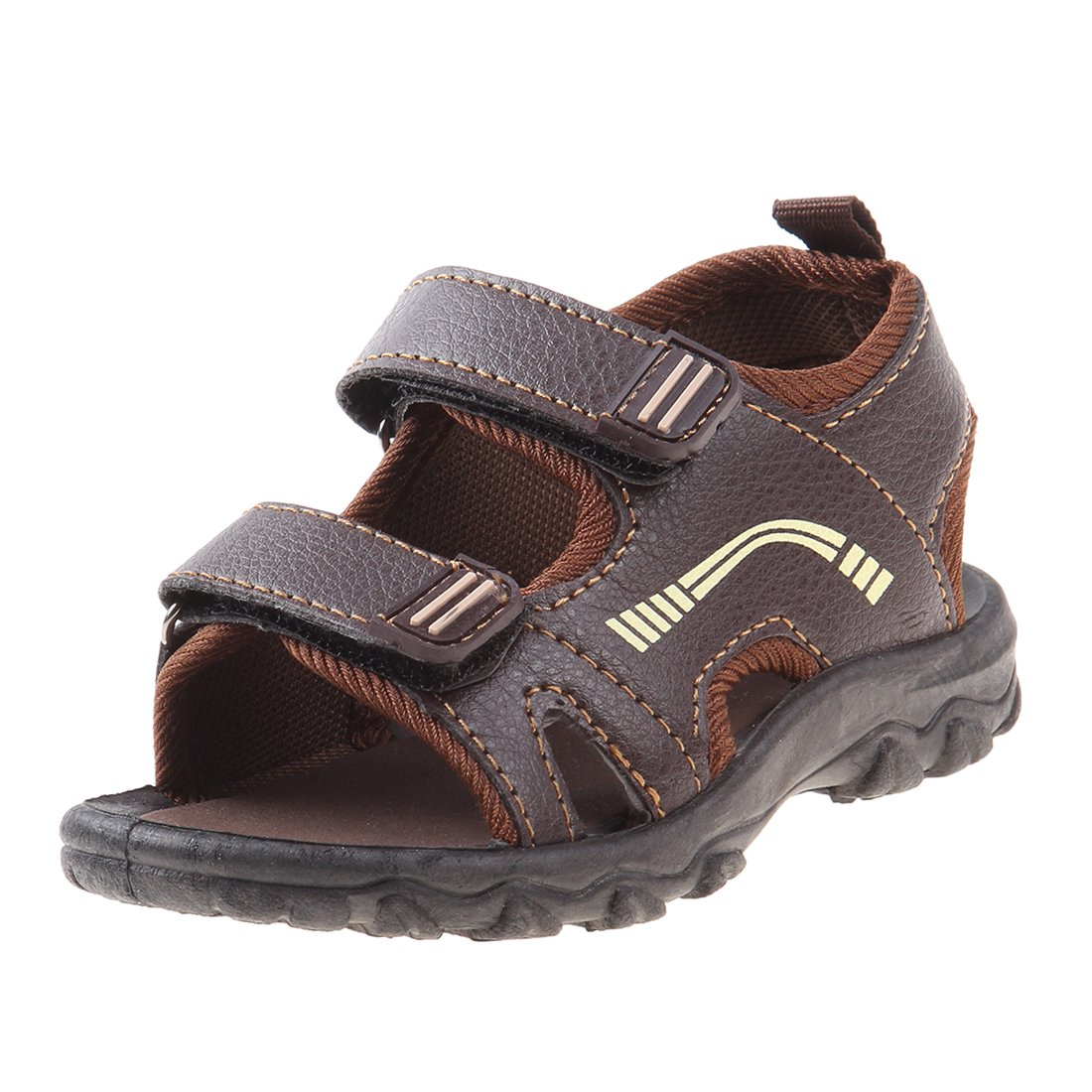 Josmo Boys Outdoor Summer Sandal (Toddler, Little Kid, Big Kid), Brown, 5 M US Toddler'