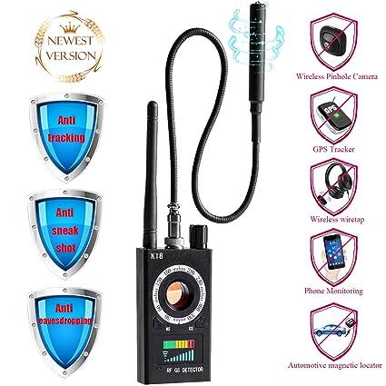 Bug Detector rf Signal Detector Anti Spy Detector Hidden Camera Pinhole Laser GSM Device Car GPS