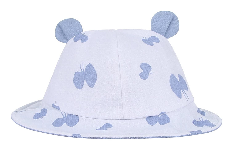 a3eafd4d671 La Vogue Baby Butterflies Bucket Summer Sun Hat Cute Ears Cloche Hat Blue   Amazon.co.uk  Clothing