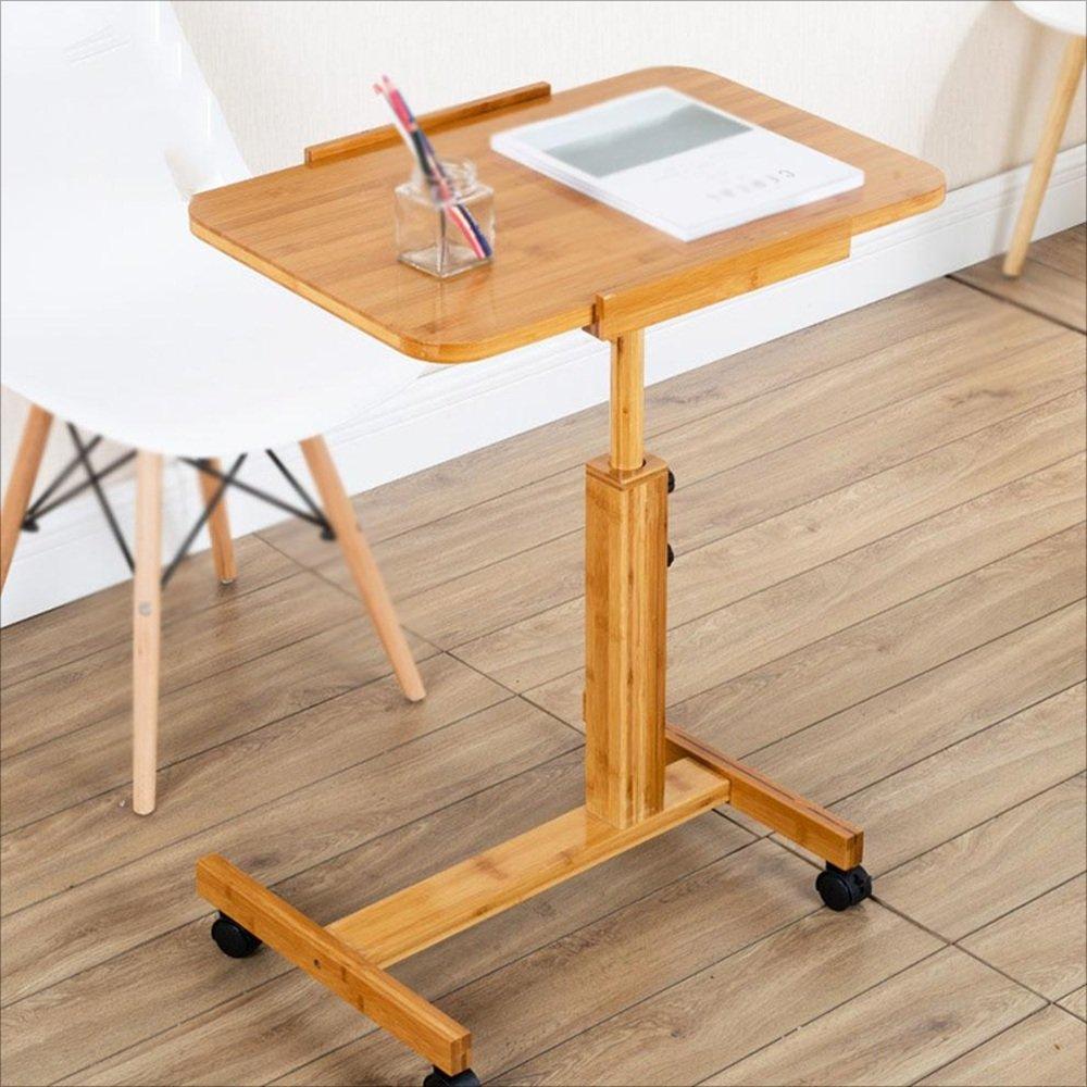 NAN 調節可能な高さラップトップベッドテーブル、ポータブルスタンドデスク、折り畳み式ソファ朝食トレイ、ノートブックスタンド読書ホルダーベッド折りたたみ式テーブルラップトップテーブルモバイル学生用コンピュータデスク家庭用引き上げテーブル (サイズ さいず : L60W40) B07FGVS2NML60W40