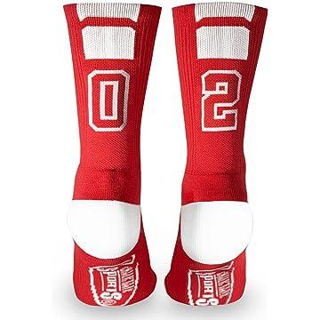 buy Custom Team Number Crew Socks