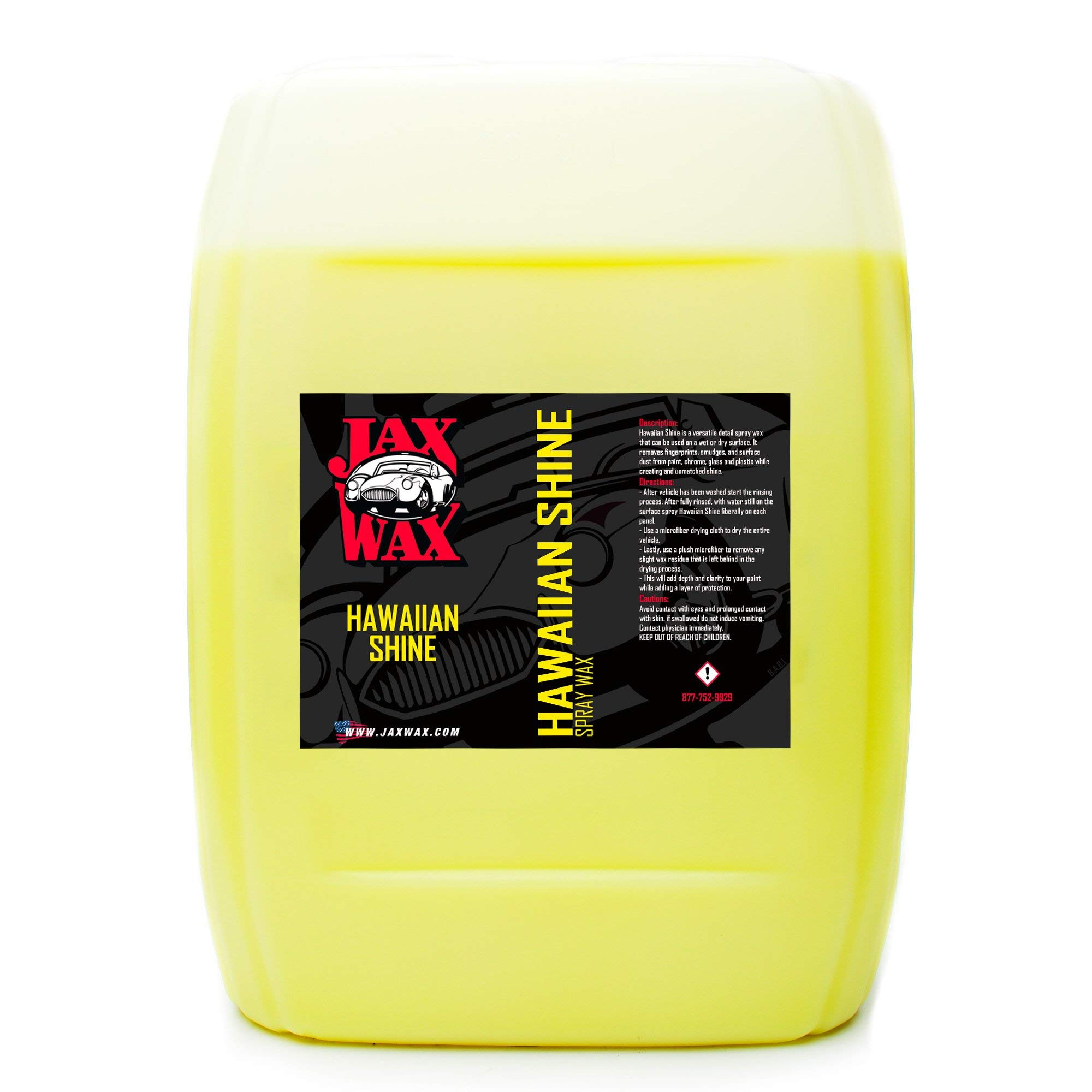 Jax Wax Hawaiian Shine Carnauba Car Wax - Quick Detail Spray - 5 Gallon
