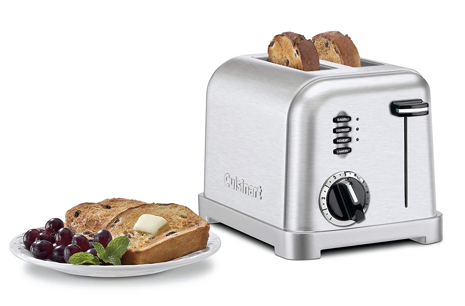 7. Cuisinart CPT-160 Metal Classic 2-Slice Toaster, Brushed Stainless