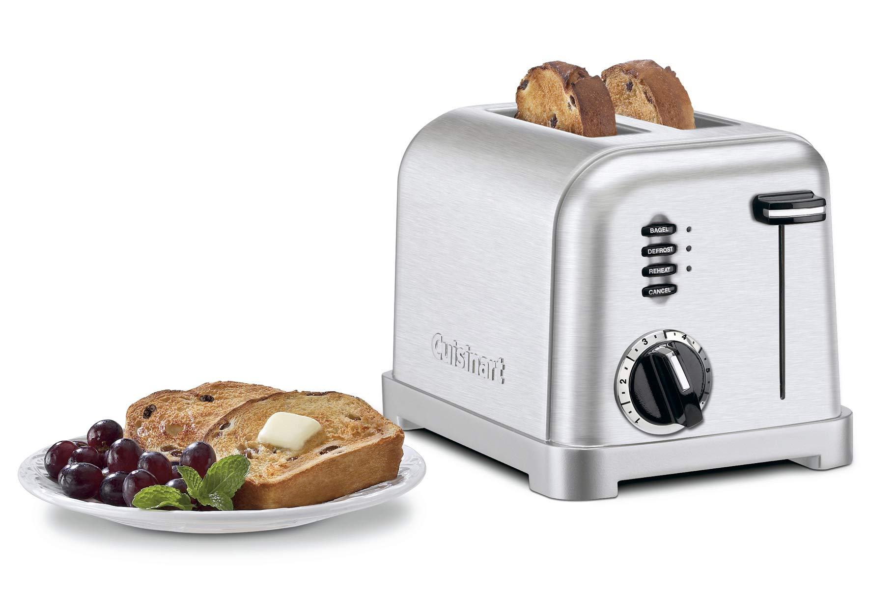 Cuisinart CPT-160 Metal Classic 2-Slice Toaster, Brushed Stainless by Cuisinart
