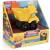 Tonka Mighty Builders Construction Site Play Set (15-Piece) Dump Truck, Character & Blocks - Portable Storage, Easy Cleanup, Safe, Fun, Bright Colors | Children Imagination Creative Toys